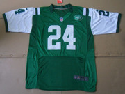 2012 Nike Jets #24 Darrelle Revis #6 Mark Sanchez Green Elite Jersey