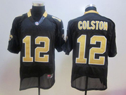 2012 Nike Saints #12 Marques Colston #9 Drew Brees Elite Jersey