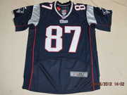 2012 Nike Patriots #87 Rob Gronkowski #12 Tom Brady Blue Elite Jersey